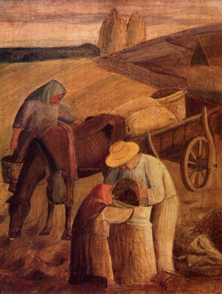 E37 5 Hvozdyk Kyrylo Peasants in the Field (1929)
