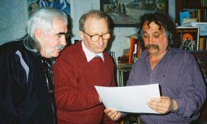 Юрій Алжнєв (ліворуч), Петро Джерелянський, Степан Сапеляк